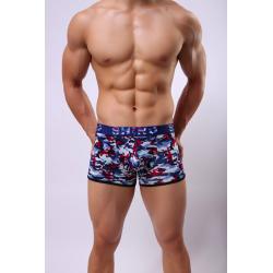 SHINO boxerky pánské červeno-modré vzorované