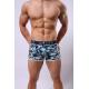 SHINO boxerky pánské tyrkysovo-modré vzorované