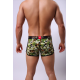 SHINO boxerky pánské zeleno-hnědě vzorované Army