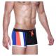 SEOBEAN plavky černo-modré boxerkové Stripe Swim Boxer