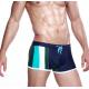 SEOBEAN plavky zeleno-modré boxerkové Stripe Swim Boxer