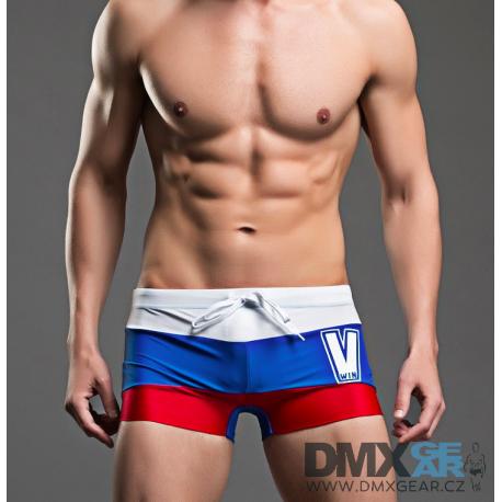 SEOBEAN plavky pruhované boxerkové Russia Swim Boxer
