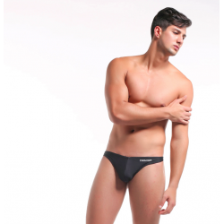 DESMIIT plavky tanga černá Swim Thong Team