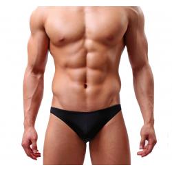 BRAVE PERSON pánské černé průhledné slipy Ultra Thin Black