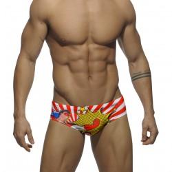 ADDICTED plavky slipové vzorované ADS059 Super Hero Sunga
