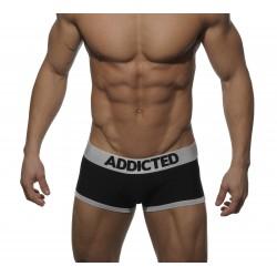 ADDICTED boxerky pánské černé AD002 Basic Boxer se stříbrnou gumou