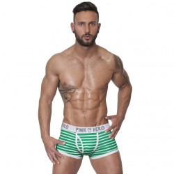 PINK HERO zeleno-bílé pruhované boxerky Stripes